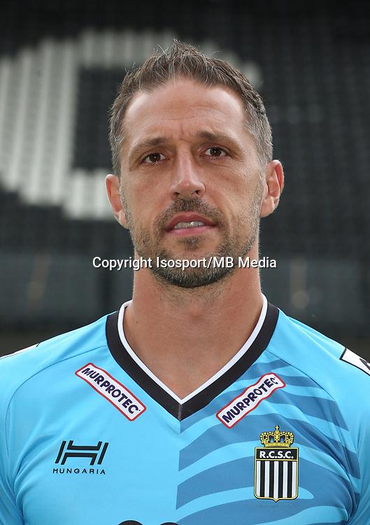 20170715 - Charleroi, Belgium / Photoshoot Sporting Charleroi 2017 - 2018 / <br /> Nicolas PENNETEAU<br /> Picture Vincent Van Doornick / Isosport