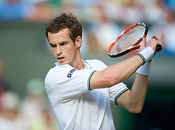 LONDON, ENGLAND - Thursday, June 25, 2009: Andy Murray (GBR) during the Gentlemen's Singles 2nd Round match on day four of the Wimbledon Lawn Tennis Championships at the All England Lawn Tennis and Croquet Club. (Pic by David Rawcliffe/Propaganda)