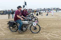 Alex Trepanier, Doug Feinsod and ohter Thor Losers on the line at TROG West - The Race of Gentlemen. Pismo Beach, CA, USA. Saturday October 15, 2016. Photography ©2016 Michael Lichter.