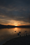 Varese. Lombardia. ITALY. General View. Varese Rowing Club. [Canottieri Varese] Province of Varese.  Sunset <br /> <br /> Monday  02/01/2017<br /> <br /> [Mandatory Credit; Peter Spurrier/Intersport-images]<br /> <br /> <br /> LEICA CAMERA AG - LEICA Q (Typ 116) - 1/800 - f4 , Atmospheric, mist, fog, Sunrise, Sunset, Blue Hour,