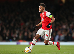 Pierre-Emerick Aubameyang of Arsenal on the ball - Mandatory by-line: Arron Gent/JMP - 27/02/2020 - FOOTBALL - Emirates Stadium - London, England - Arsenal v Olympiacos - UEFA Europa League Round of 32 second leg