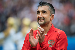 June 14, 2018 - Moscow, Russia - 180614 Alexander Samedov of Russia prior the FIFA World Cup group stage match between Russia and Saudi Arabia on June 14, 2018 in Moscow..Photo: Petter Arvidson / BILDBYRN / kod PA / 92065 (Credit Image: © Petter Arvidson/Bildbyran via ZUMA Press)