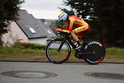 Ines Cantera Carrasco (ESP) at the 2020 UEC Road European Championships - Junior Women ITT, a 25.6 km individual time trial in Plouay, France on August 24, 2020. Photo by Sean Robinson/velofocus.com