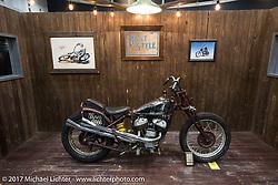 Brat Style Motorcycles display at the 26th Annual Yokohama Hot Rod and Custom Show 2017. Yokohama, Japan. Sunday December 3, 2017. Photography ©2017 Michael Lichter.