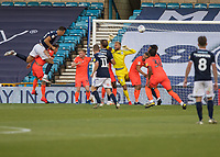 Football - 2019 / 2020 EFL Championship -  Millwall vs. Huddersfield Town<br /> <br /> Jake Cooper (Millwall FC) powers home the header from a corner at The Den.<br /> <br /> COLORSPORT/DANIEL BEARHAM