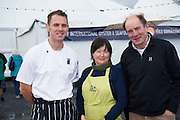 25/09/2016 Oscar's Michael O'Meara award winning chef and author of 'Seafood Gastronomy' at the Galway International Oyster Festival Photo:Andrew Downes, XPOSURE.