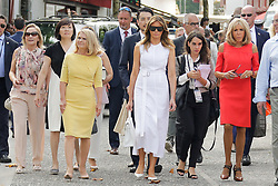 Brigitte Macron, wife of French President Emmanuel Macron, walk in the streets with U.S. First Lady Melania Trump , Akie Abe, wife of Japan's Prime Minister Shinzo Abe, Chile's First Lady Cecilia Morel, Jenny Morrison, wife of Australia's Prime Minister Scott Morrison, Malgorzata Tusk, wife of European Council President Donald Tusk during a visit on traditional Basque culture in Espelette, near Biarritz as part of the G7 summit.August 25, 2019. Photo by Thibaud Moritz/ABACAPRESS.COM
