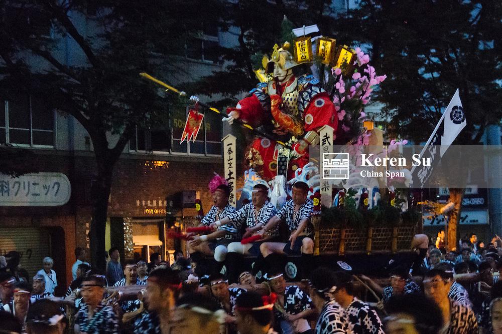 Yamasaka float during Hakata Gion Yamakasa Festival, Fukuoka, Japan