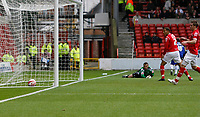 Photo: Richard Lane/Richard Lane Photography. Nottingham Forest v Birmingham City. Coca Cola Championship. 08/11/2008. Keeper Lee Camp looks back as the ball crosses the line. James McFadden (obscured turns to celebrate