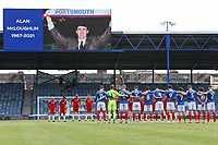 Football - 2020 / 2021 Sky Bet League One - Portsmouth vs. Accrington Stanley - Fratton Park<br /> <br /> The Teams hold a minutes silence for Alan McLoughlin before kick after his passing<br /> <br /> COLORSPORT/SHAUN BOGGUST