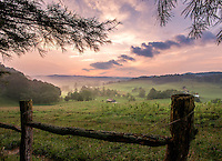 Sunset in the rolling hills of Virginia