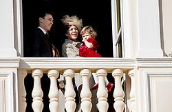 Louis Ducruet und Prinzessin Caroline von Hannover mit Enkelin India Casiraghi bei den Feierlichkeiten zum Nationalfeiertag in Monaco / 191116<br /> <br /> ***National Day in Monaco, November 19th, 2016***