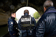 Paris, France. 27 Avril 2009..Police Fluviale de Paris..Paris, France. April 27th 2009..Paris fluvial squad..