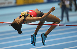 07.03.2014, Ergo Arena, Sopot, POL, IAAF, Leichtathletik Indoor WM, Sopot 2014, Tag 1, im Bild Nafissatou Thiam (Belgium) competite during the High Jump // Nafissatou Thiam (Belgium) competite during the High Jump during day one of IAAF World Indoor Championships Sopot 2014 at the Ergo Arena in Sopot, Poland on 2014/03/07. EXPA Pictures © 2014, PhotoCredit: EXPA/ Newspix/ Michal Fludra<br /> <br /> *****ATTENTION - for AUT, SLO, CRO, SRB, BIH, MAZ, TUR, SUI, SWE only*****