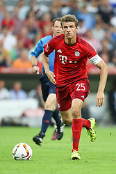 04.08.2015, Allianz Arena, Muenchen, GER, AUDI CUP, FC Bayern Muenchen vs AC Mailand, im Bild Thomas Mueller (FC Bayern Muenchen #25) // during the 2015 AUDI Cup Match between FC Bayern Muenchen and AC Mailand at the Allianz Arena in Muenchen, Germany on 2015/08/04. EXPA Pictures © 2015, PhotoCredit: EXPA/ Eibner-Pressefoto/ Schüler<br /> <br /> *****ATTENTION - OUT of GER*****