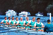 """Henley on Thames. United Kingdom. Nottingham County Rowing Association [NCRA]. beat Harvard University in the final of """" Ladies Plate Challenge Trophy"""", at the 1990 Henley Royal Regatta, Henley Reach, River Thames. 06/07.1989  Crew. NCRA: Chris BATES (bow), Peter HAINING, Tom KAY, Justin HOOKER, Marish CHMEIL, Carl SMITH, Neil STAITE, Toby HESSIAN (str), John DEAKIN.<br /> <br /> [Mandatory Credit; Peter SPURRIER/Intersport Images] 1989 Henley Royal Regatta. Henley. UK , Crew. NCRA: Chris BATES (bow), Peter HAINING, Tom KAY, Justin HOOKER, Marish CHMEIL, Carl SMITH, Neil STAITE, Toby HESSIAN (str), John DEAKIN."""