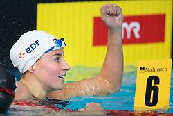 August 6, 2018 - Glasgow, United Kingdom - Charlotte Bonnet of France celebrates after winning the final of women's 200 meter freestyle swimming during the European Championships. (Credit Image: © Joel Marklund/Bildbyran via ZUMA Press)
