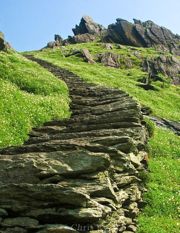 Stone stairway, Skellig Michael, Ireland