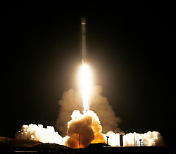 December 22, 2017 - Vandenberg AFB. California, U.S. - A previously-flown Falcon 9 booster blastoff Friday from Vandenberg Air Force Base The rocket is carrying 10 new-generation communications satellites for Iridium. (Credit Image: © Gene Blevins via ZUMA Wire)