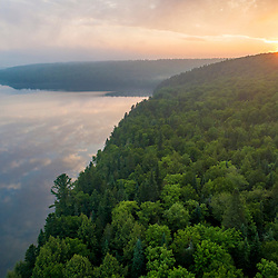Early morning above Cross Lake in Square Lake Township, Maine.
