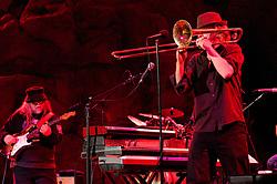 Matt Hubard on Trumpet, Papa Mali on Guitar. 7 Walkers in Concert in The Wolfs Den at Mohegan Sun Casino on December 9, 2010