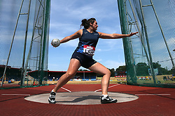 Great Britain's Kirsty Law competes in the Dicsus Throw during day two of the Muller British Athletics Championships at Alexander Stadium, Birmingham.