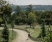 People in Istanbul enjoy Emirgan park, one of the largest one in the city.