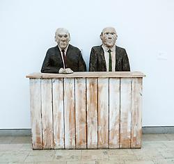 Sculpture called The Bureaucrats at Goteborgs art museum or Konstmuseum in Gothenburg Sweden August 2009