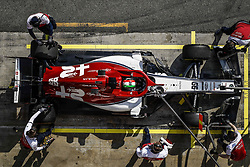 February 21, 2019 - Barcelona Barcelona, Espagne Spain - GIOVINAZZI Antonio (ita), Alfa Romeo Racing C38, action pitstop during Formula 1 winter tests from February 18 to 21, 2019 at Barcelona, Spain - Photo  Motorsports: FIA Formula One World Championship 2019, Test in Barcelona, (Credit Image: © Hoch Zwei via ZUMA Wire)