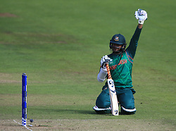 Bangladesh's Shakib Al Hasan during the ICC Champions Trophy, Group A match at Sophia Gardens, Cardiff. PRESS ASSOCIATION Photo. Picture date: Friday June 9, 2017. See PA story CRICKET India. Photo credit should read: Nigel French/PA Wire. RESTRICTIONS: Editorial use only. No commercial use without prior written consent of the ECB. Still image use only. No moving images to emulate broadcast. No removing or obscuring of sponsor logos.