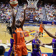 UNCASVILLE, CONNECTICUT- JULY 15:  Chiney Ogwumike #13 of the Connecticut Sun drives to the basket  during the Los Angeles Sparks Vs Connecticut Sun, WNBA regular season game at Mohegan Sun Arena on July 15, 2016 in Uncasville, Connecticut. (Photo by Tim Clayton/Corbis via Getty Images)