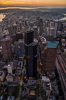 Downtown Seattle featuring the Columbia Center (tallest building in Pacific Northwest)