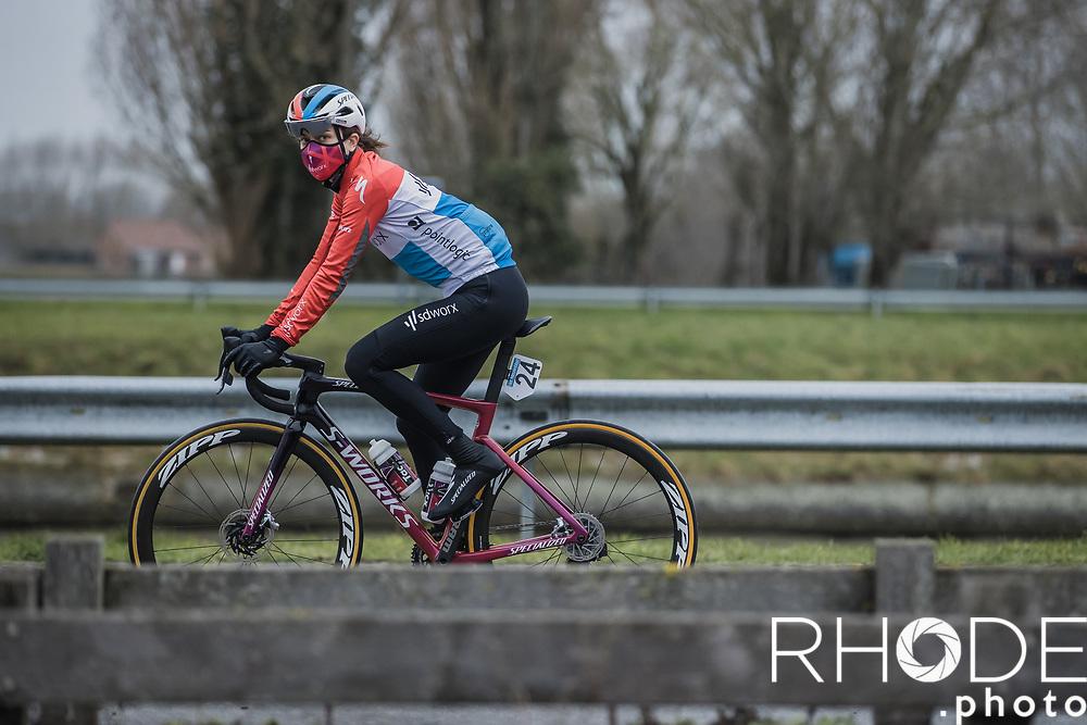 Christine Majerus (LUX/SD Worx) pre race<br /> <br /> 2nd Nokere Koerse WE (BEL) 2021<br /> UCI Women Elite 1.PRO<br /> One Day Race: Deinze > Nokere 124km