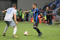 September 14, 2017 - Reggio Emilia, Emilia Romagna, Italy - Alejandro Gomez  (Atalanta Bergamasca Calcio) and Gylfi Sigurdsson compete for the ball during the first match of Group E of the UEFA Europa League between Atalanta Bergamasca Calcio and FC Everton at Mapei Stadium-Citt del Tricolore on 12 September, 2017 in Reggio Emilia, Italy. ..Atalanta won 3-0 over Everton. (Credit Image: © Massimiliano Ferraro/NurPhoto via ZUMA Press)