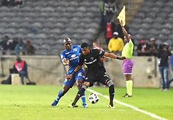 South Africa: Johannesburg: Orlando Pirates Pule Vincent and  SuperSport United Modiba aubrey  during the Absa Premiership at the Orlando stadium, Gauteng. <br />Picture: Itumeleng English/African News Agency (ANA)