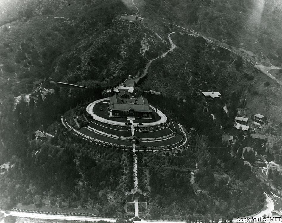 1918 Aerial photo of the Bernheimer Estate. Now the Yamashiro