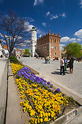 Renesansowy ratusz na rynku w Sandomierzu, Polska<br /> Renaissance town hall on the market place in Sandomierz, Poland