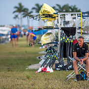 Mark Stallard (New Zealand coach)<br /> <br /> Training at the World Championships, Sarasota, Florida, USA Monday 25 September 2017. Copyright photo © Steve McArthur / Rowing NZ