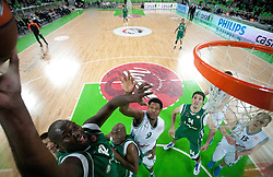 Nathan Jawai of Unics Kazan during basketball match between KK Union Olimpija and Unics Kazan (RUS) of 10th Round in Group D of Regular season of Euroleague 2011/2012 on December 21, 2011, in Arena Stozice, Ljubljana, Slovenia. Unics Kazan defeated Union Olimpija 76-63. (Photo by Vid Ponikvar / Sportida)