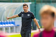 Heart of Midlothian fitness coach Tom Taylor during training at The Oriam Sports Performance Centre, Heriot Watt University, Edinburgh, Scotland on 24 September 2019, ahead of the Betfred Scottish Football League Cup quarter-final match against Aberdeen. Picture by Malcolm Mackenzie