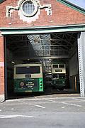 Buses, Ipswich bus depot, Suffolk, England
