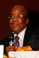 DURBAN - 27 October 2016 - South Africa's national health minister Dr Aaron Motsoaledi speaks during a question and answer session during the luanch of the Human Resources for Eye Health Initiative in Durban. The initiative is led by the niternational non-profit organisation Orbis. Picture: Allied Picture Pres/APP