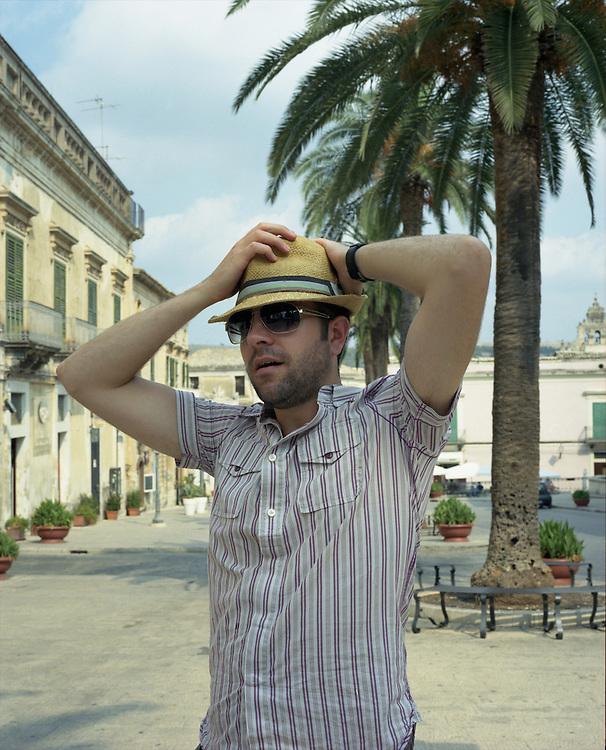 Man in Ragusa, Sicily, Italy