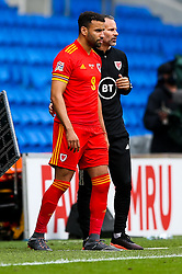 Hal Robson-Kanu of Wales and Wales manager Ryan Giggs - Rogan/JMP - 06/09/2020 - FOOTBALL - Cardiff City Stadium - Cardiff, Wales - Wales v Bulgaria - UEFA Nations League Group B4.