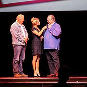 NLD/Amsterdam/20120911- Presentatie DVDbox 125 jaar Carre, Chantal Janzen met Maurice Hermance en broer Gaby Hermans