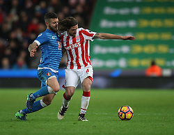 Jack Wilshere of Bournemouth (L) and Joe Allen of Stoke City in action - Mandatory by-line: Jack Phillips/JMP - 19/11/2016 - FOOTBALL - Bet365 Stadium - Stoke-on-Trent, England - Stoke City v Bournemouth - Premier League