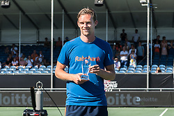 Mirco Pruyser of The Netherlands gets the trophy for the most beautiful goal of the tournament during the Champions Trophy finale between the Australia and India on the fields of BH&BC Breda on Juli 1, 2018 in Breda, the Netherlands.
