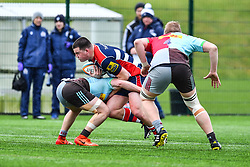 George Kloska of Bristol Academy U18 is tackled by Jack Potter of Harlequins Academy U18 - Mandatory by-line: Craig Thomas/JMP - 03/02/2018 - RUGBY - SGS Wise Campus - Bristol, England - Bristol U18 v Harlequins U18 - Premiership U18 League