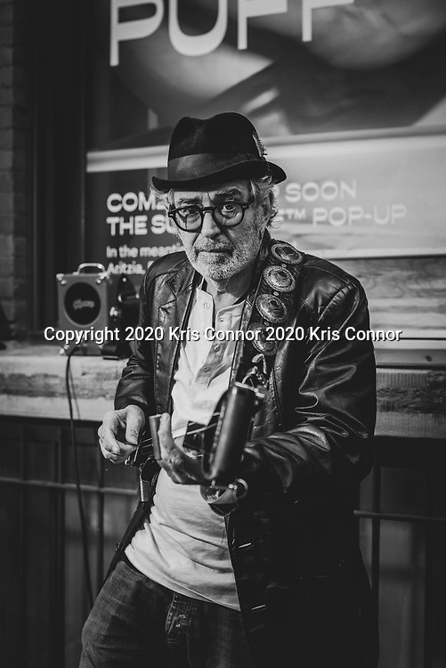 Street performer Jimi Celeste performs in the SoHo neighborhood of New York City on October 17, 2020. Photo by Kris Connor