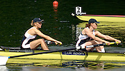 2005 FISA World Cup, Rotsee, Lucerne, SWITZERLAND, 08.07.2005 GBR W2-, left Katie Greves and Carla Ashford;  move away from the start  on the opening day of the final round of the 2005 FISA Rowing World Cup..© Peter Spurrier.  email images@intersport-images..[Mandatory Credit Peter Spurrier/ Intersport Images] Rowing Course, Lake Rottsee, Lucerne, SWITZERLAND.